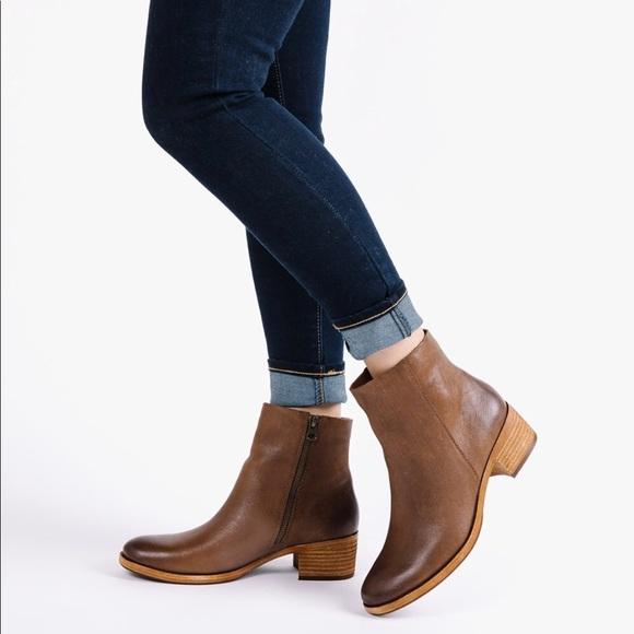 4c5457641389 Kork Ease Mayten brown leather booties 8.5 BNWOB